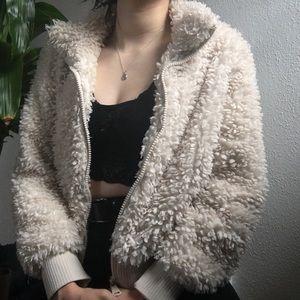Zara Shearling Crop Jacket